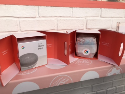 Google Home Mini and Johnny Doughnuts